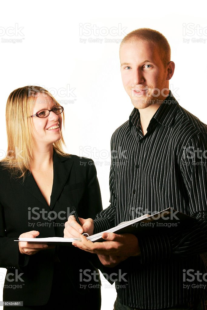 We have a deal royalty-free stock photo