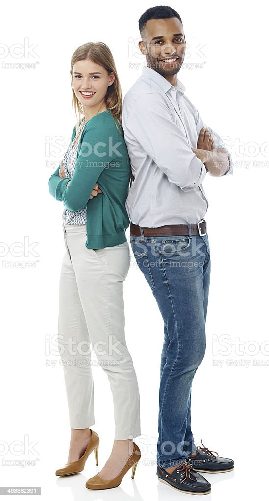 We have each other's back stock photo