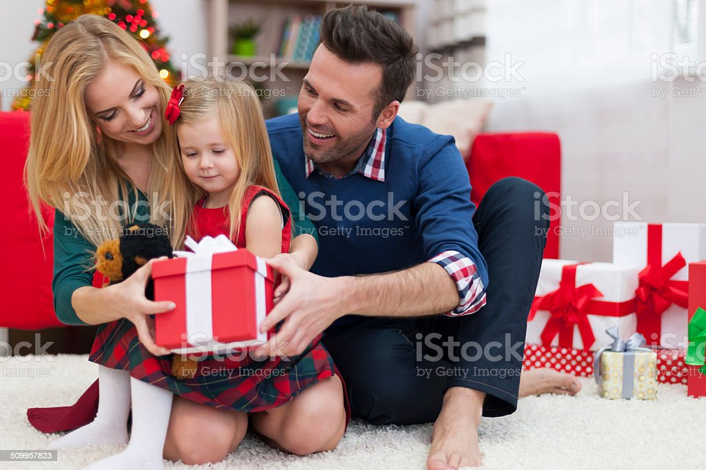 We have small gift for little princess stock photo