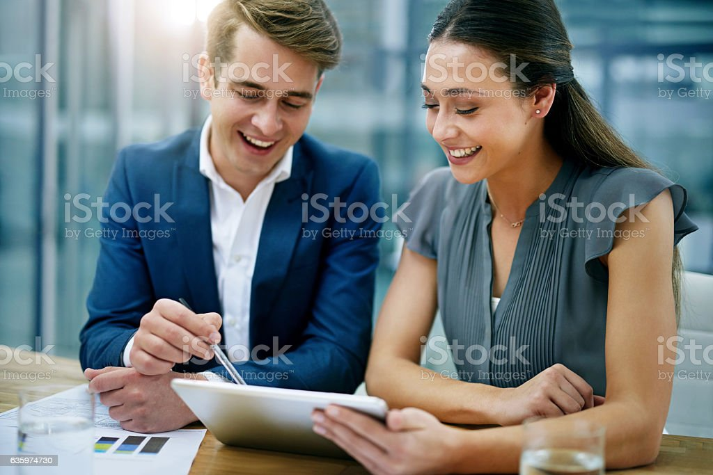 We have the potential to further our profits over here... stock photo