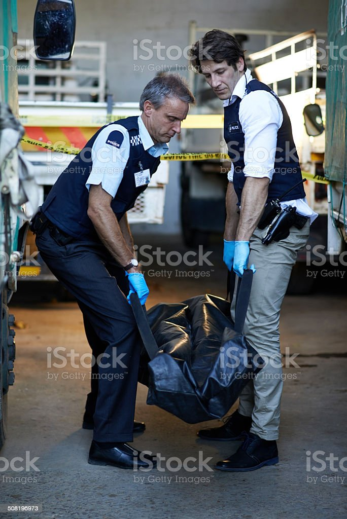 We have to catch this perp! royalty-free stock photo