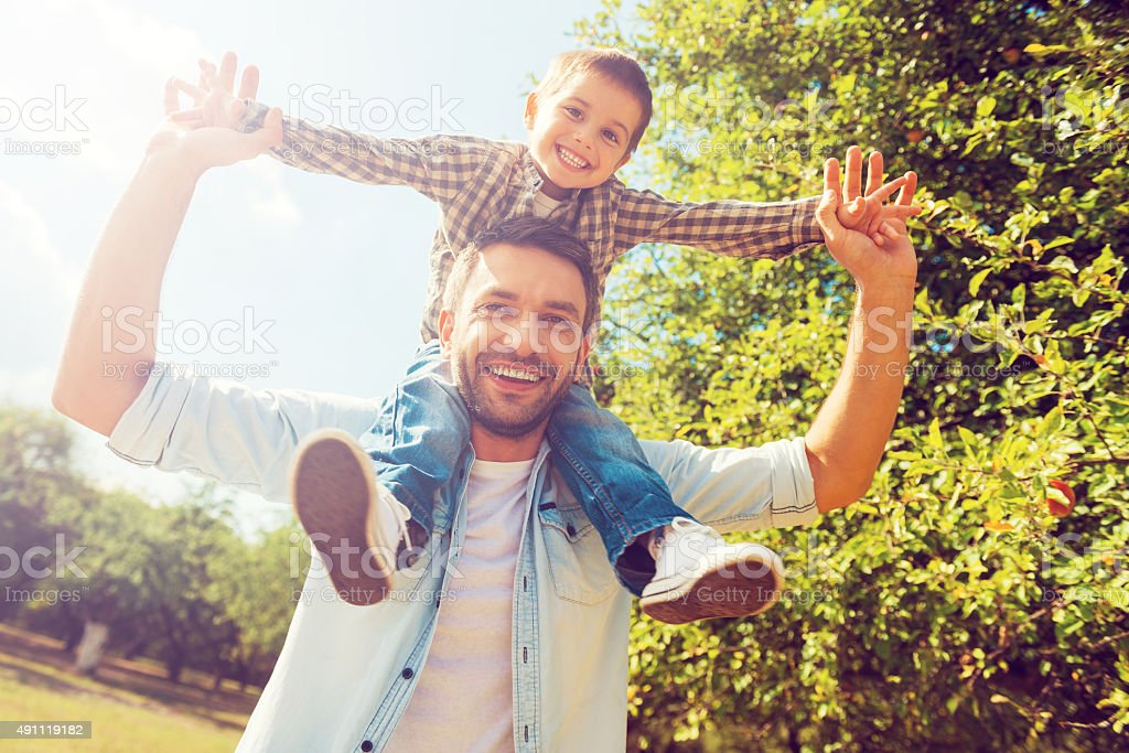 We like spending time together! stock photo