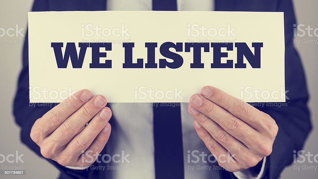 We listen stock photo