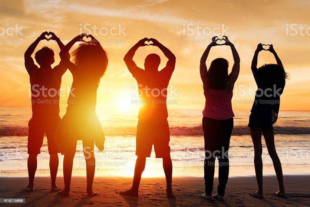 We Love Beach stock photo