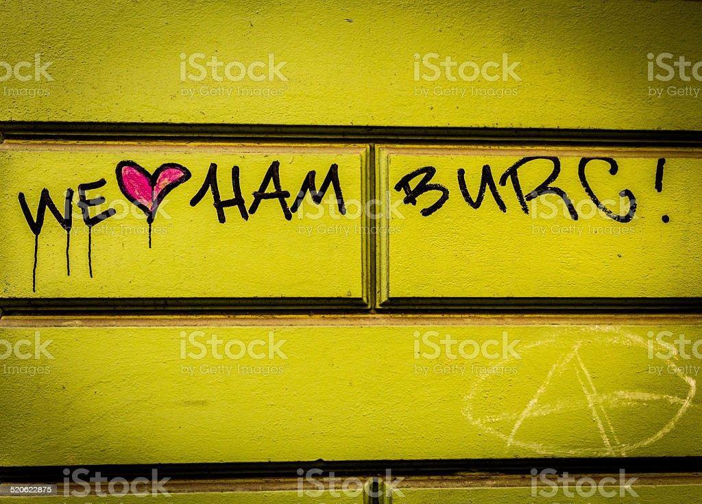 We Love Hamburg stock photo