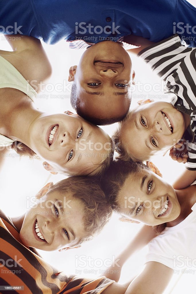 We love making new friends! royalty-free stock photo