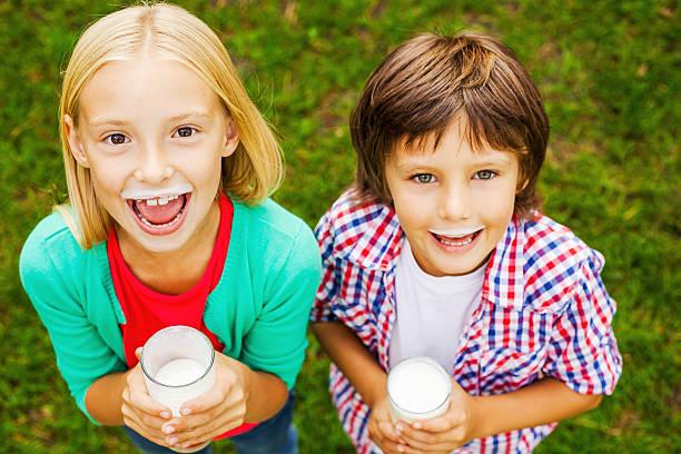 We love milk. stock photo