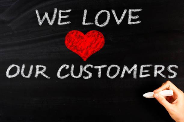 nous aimons nos clients - admiration photos et images de collection