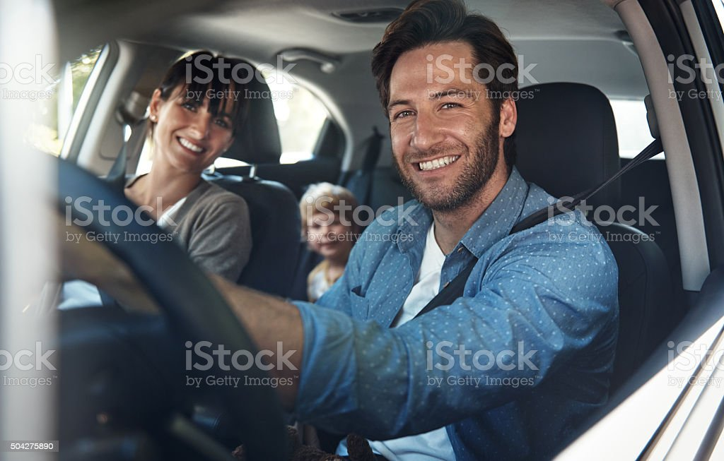 We love our family roadtrips stock photo