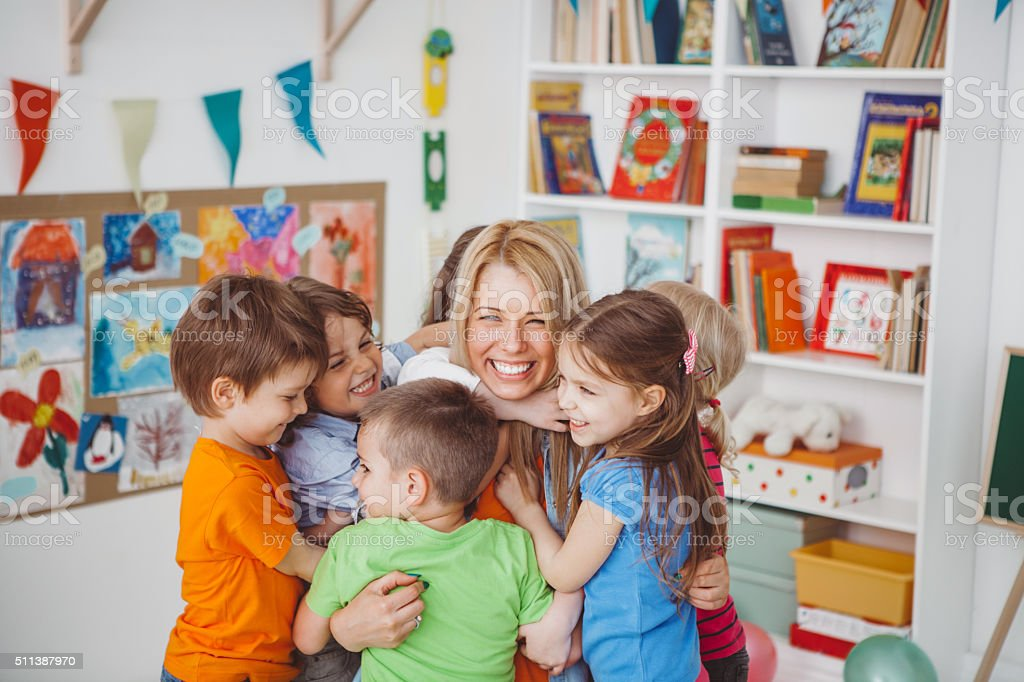 We love our teacher - Royalty-free 4-5 Years Stock Photo