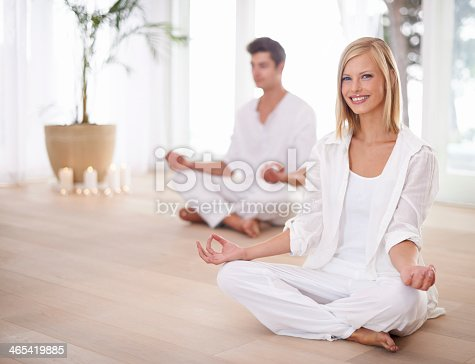 1060280766istockphoto We love our weekly Yoga class 465419885