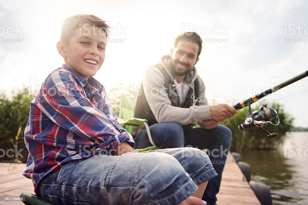 We love spending time together stock photo
