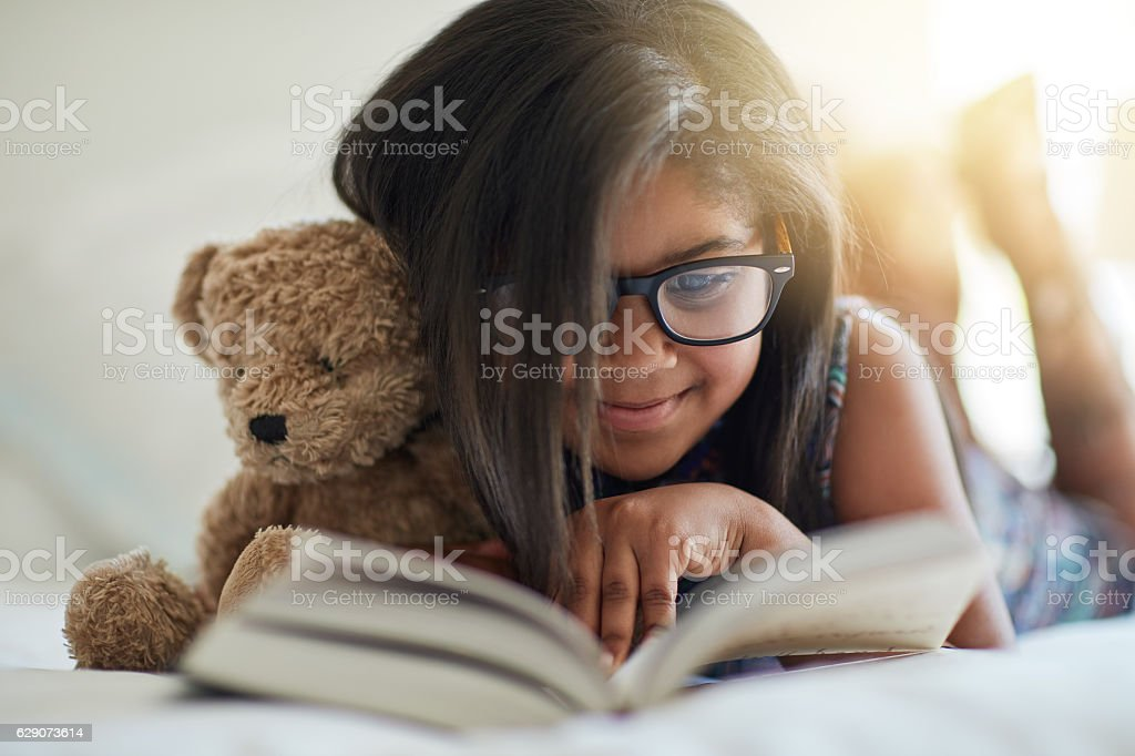 We love storytime, anytime stock photo