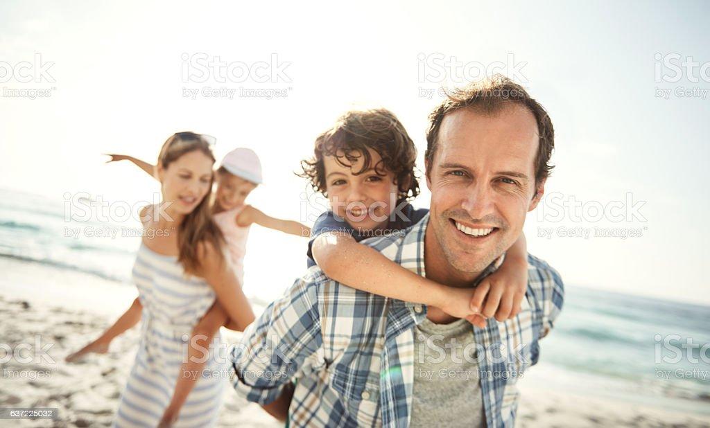 We love the beach life stock photo