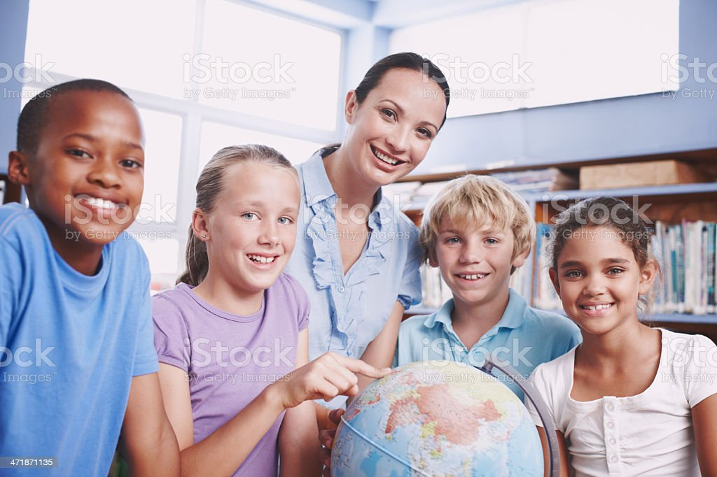 We love the earth! royalty-free stock photo