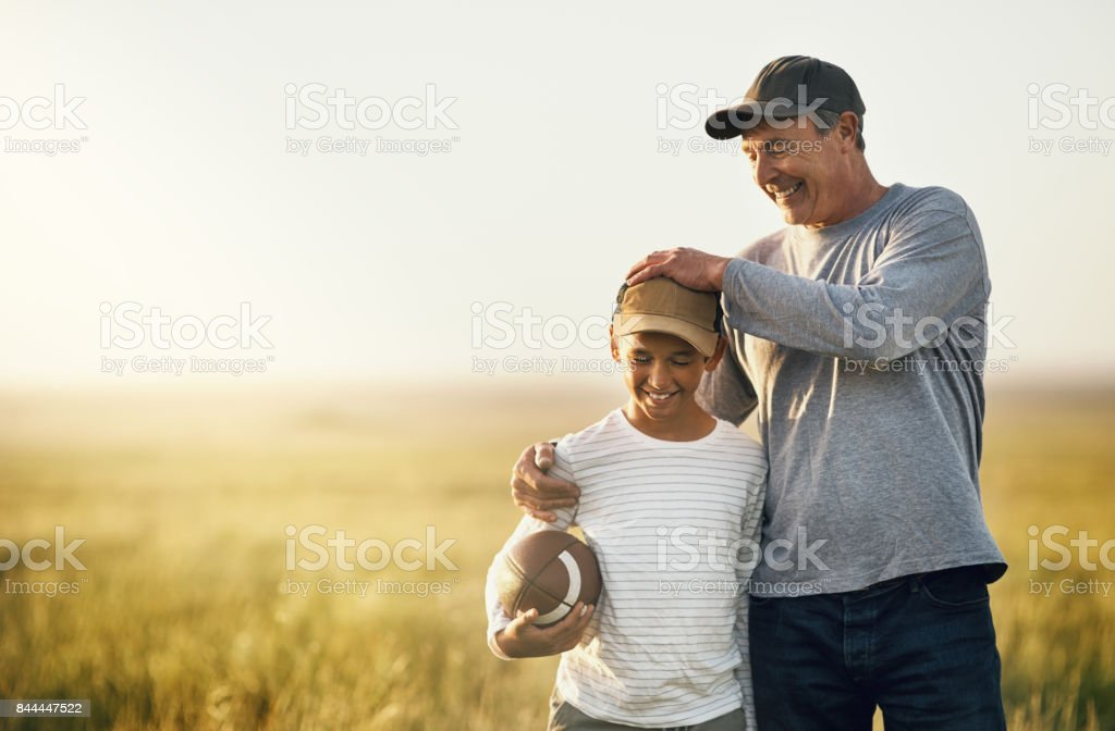 We love the excitement of the game stock photo