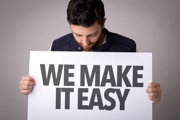 We Make It Easy stock photo