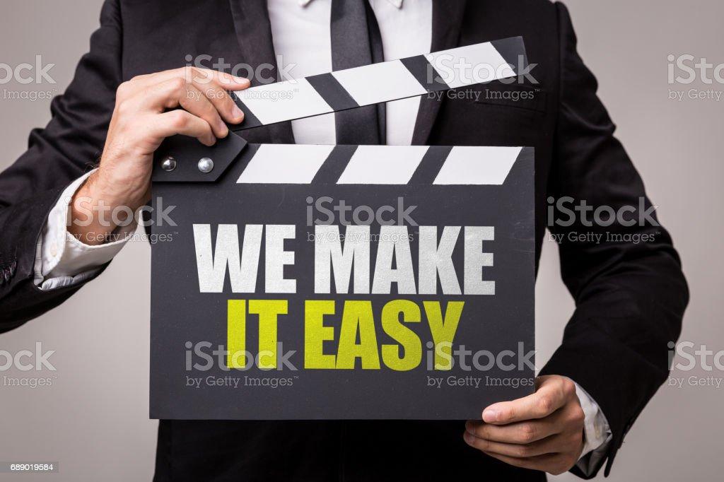 We Make It Easy stock photo