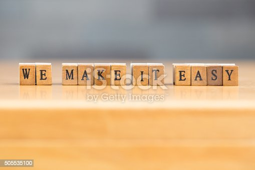 istock We make it easy. word written on wood block 505535100
