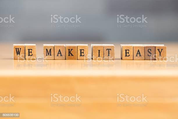 We make it easy word written on wood block picture id505535100?b=1&k=6&m=505535100&s=612x612&h=khgi 18u4mt8m93i9jeryci9j34bydjr2gddw6ruamo=