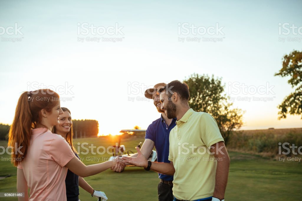 We must play together again soon stock photo