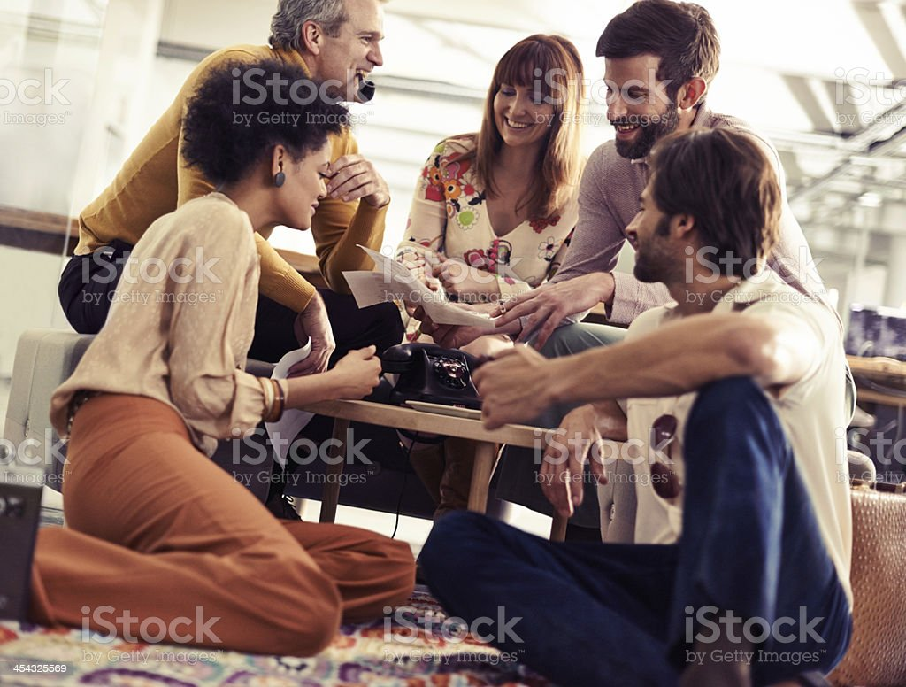 We need to come up with some groovy ideas! stock photo