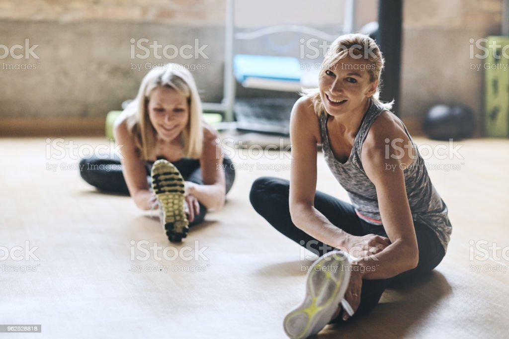 We never miss a class when it comes to fitness stock photo