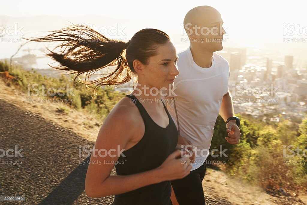 We never stop challenging each other stock photo