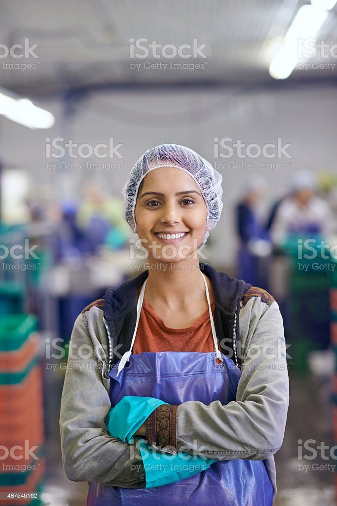 We process the food that will eventually reach you stock photo
