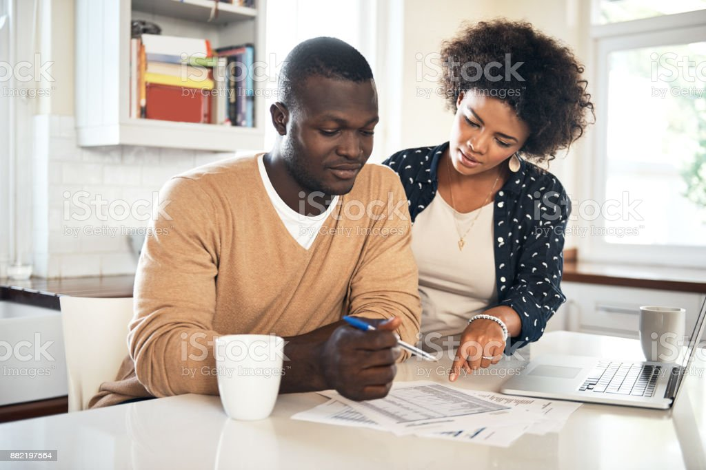 We share the responsibilities in this house stock photo