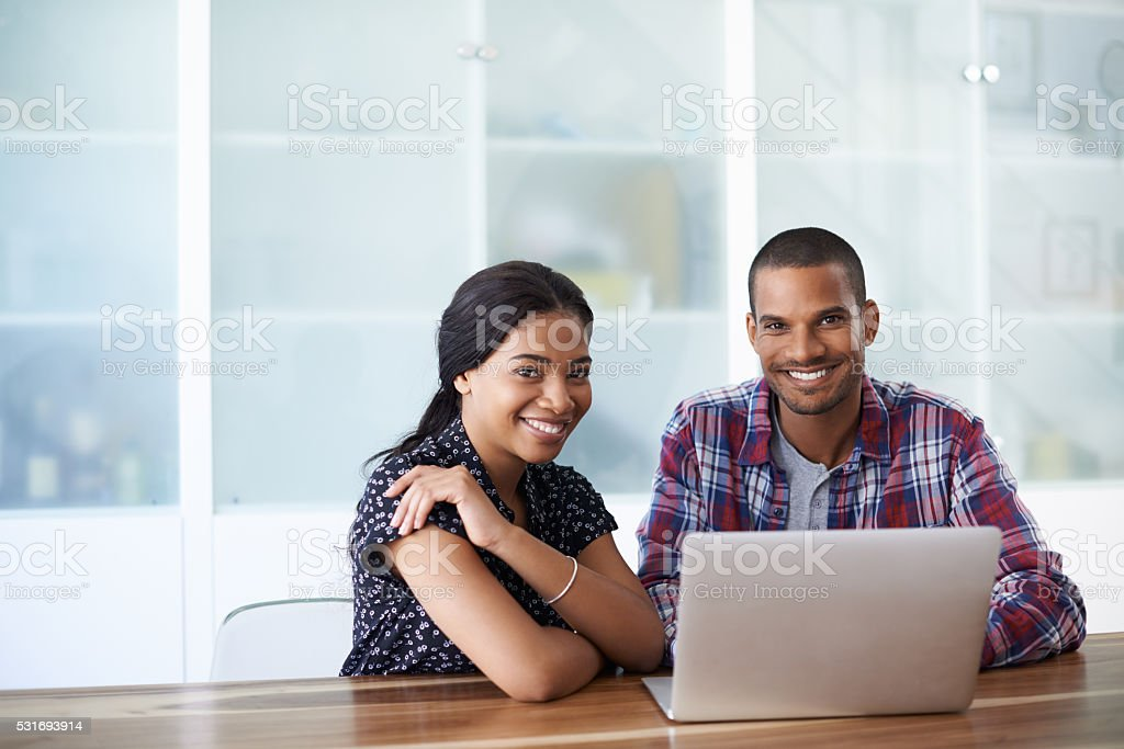 We share the same profile page! stock photo
