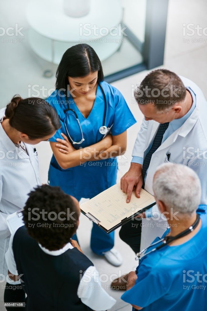 We should be able to discharge this patient soon... stock photo