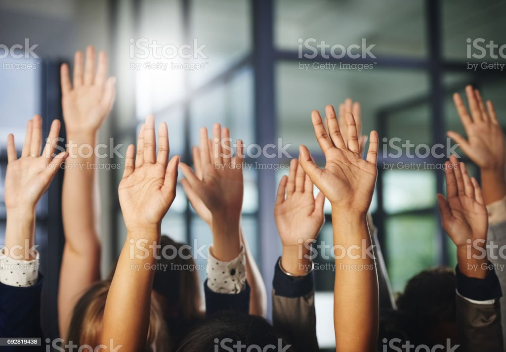 We stand together stock photo