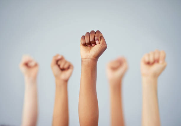 We stand together, we win together stock photo