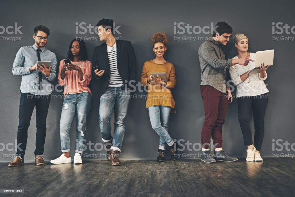 We take every opportunity to social network stock photo