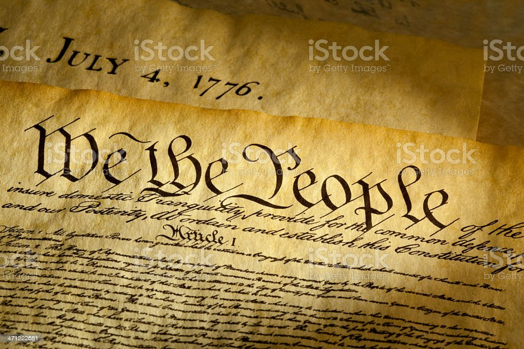 We The People Opening Phrase of USA Constitution stock photo