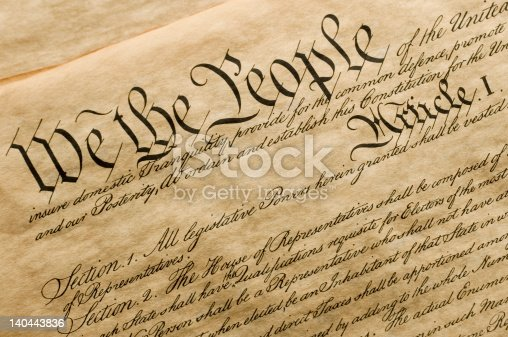 This is a copy of the cover of the U.S. Constitution.