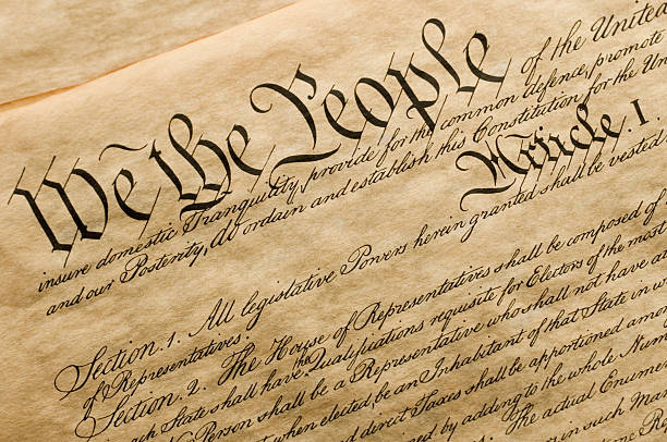 We the People This is a copy of the cover of the U.S. Constitution. american culture stock pictures, royalty-free photos & images