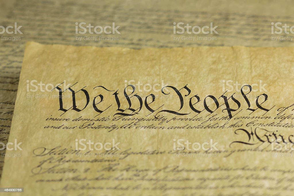 We the People Preamble to Constitution of the United States stock photo