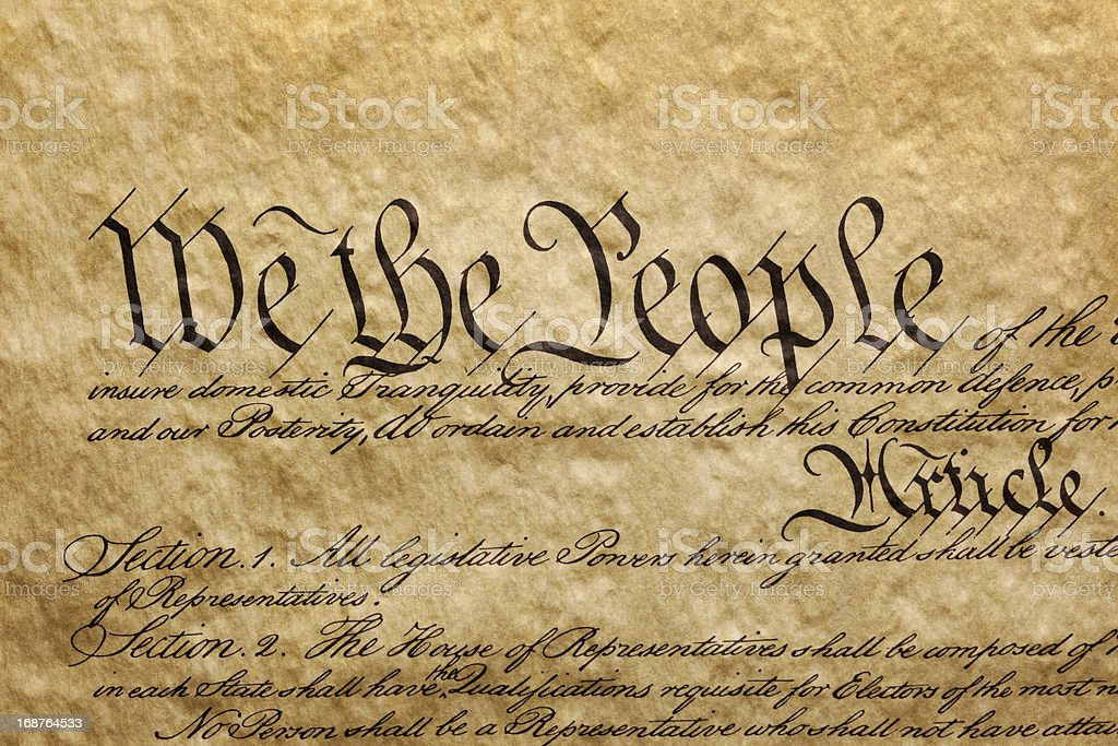 We the People - Preamble to U.S. Constitution stock photo
