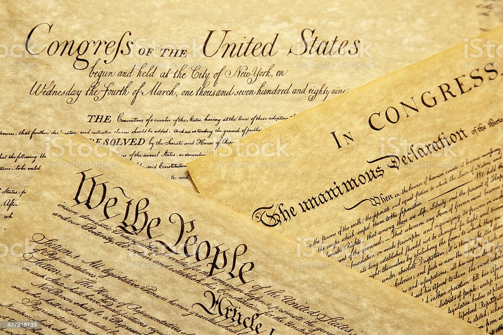 We The People - US Constitution royalty-free stock photo