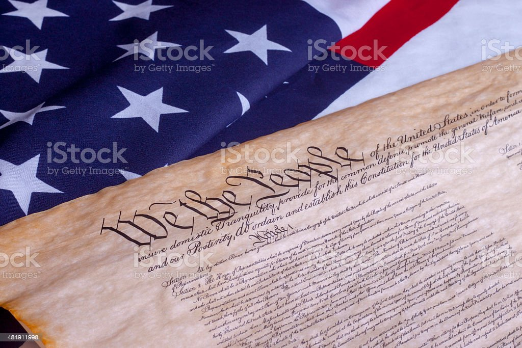 We The People US Constitution stock photo