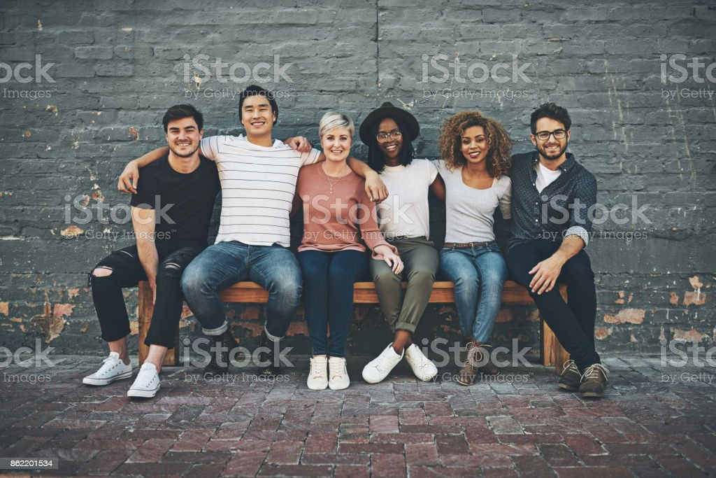 We there for each other stock photo