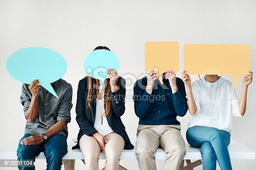 istock We want to be heard! 913331104