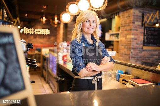 Women working at coffee shop