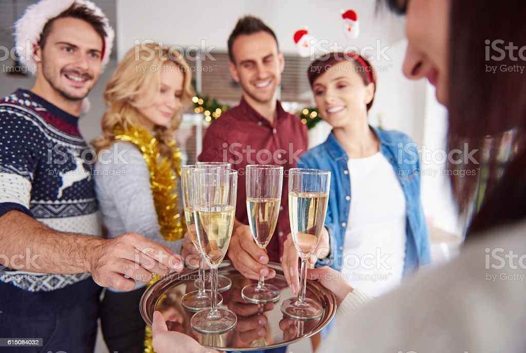 We want to make a toast for better New Year stock photo