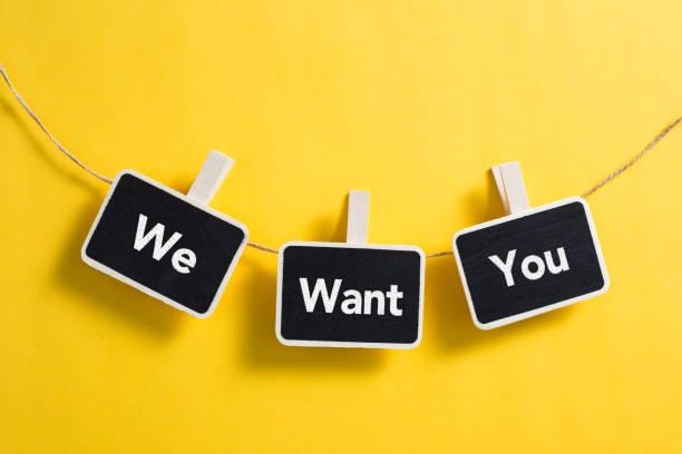 we want you concept - uwiedzenie zdjęcia i obrazy z banku zdjęć