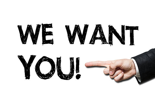 we want YOU! / Felt tip pen concept(Click for more) stock photo