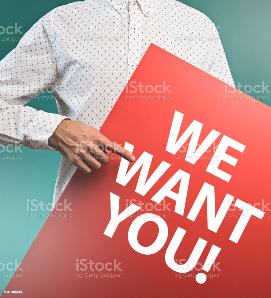 We want YOU! / Message concept (Click for more) stock photo