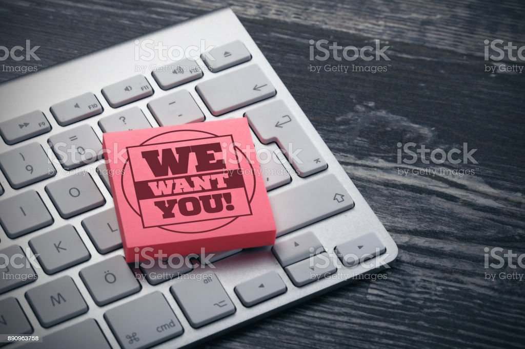 We Want You! stock photo